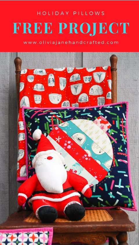 FREE scrap busting holiday pillow project