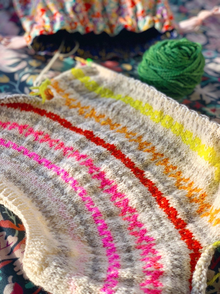 Cartography knit sweater with Good Wool and Posy yarn
