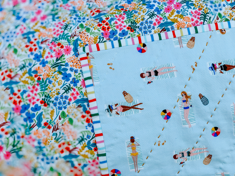 Rifle Paper co quilt by Olivia Jane Handcrafted