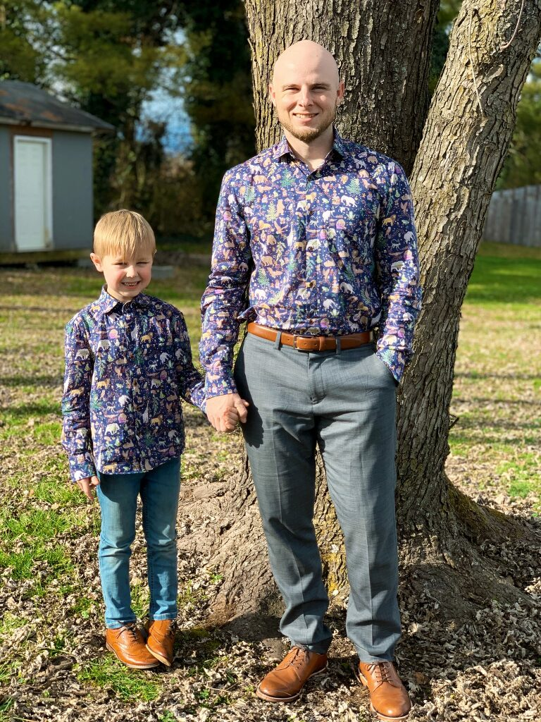 Oliver + S Buttoned Up Button Down Shirt and All Day Shirt in Liberty