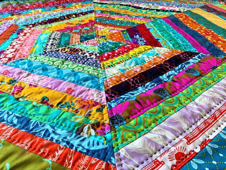 AMH hex strip quilt