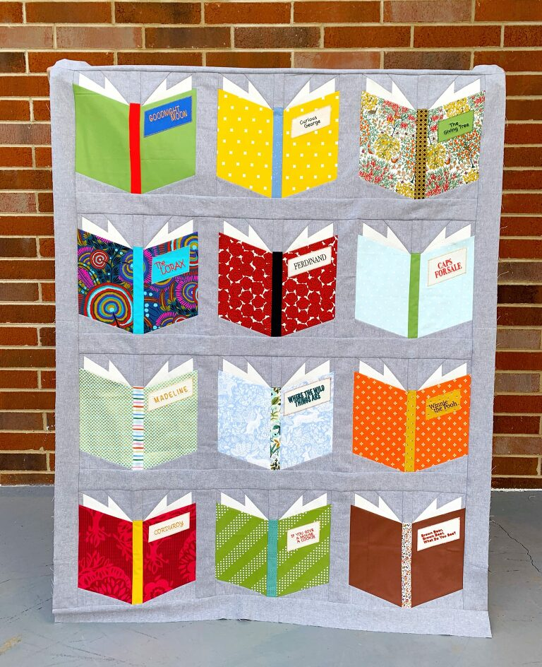 Embroidered Book Nerd Quilt with Janome Skyline S9