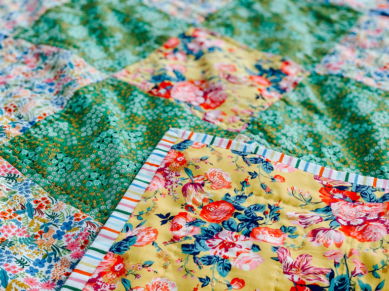 Free Beginner Quilt Series : finished quilt