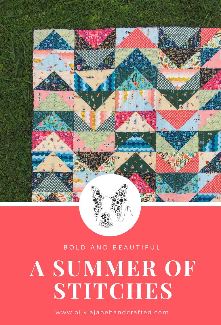 a summer of stitches Amalfi custom quilt