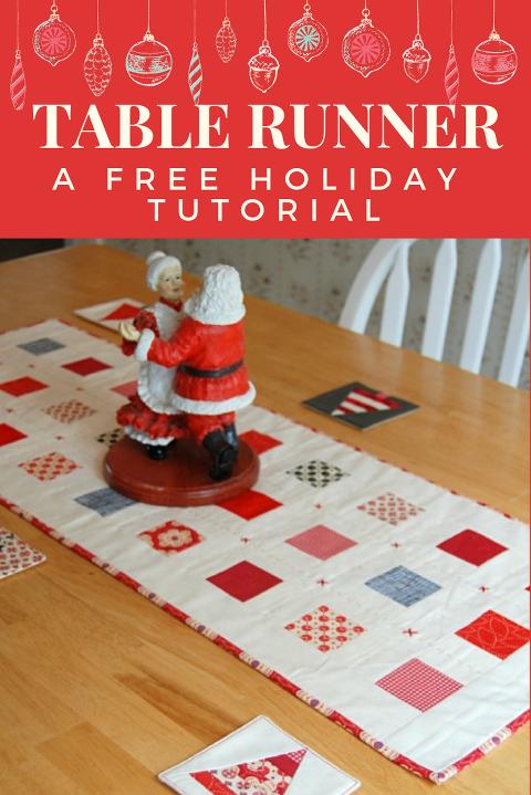 Free tutorial Christmas table runner DIY