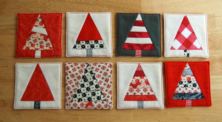 Christmas tree coaster tutorial free hostess gift