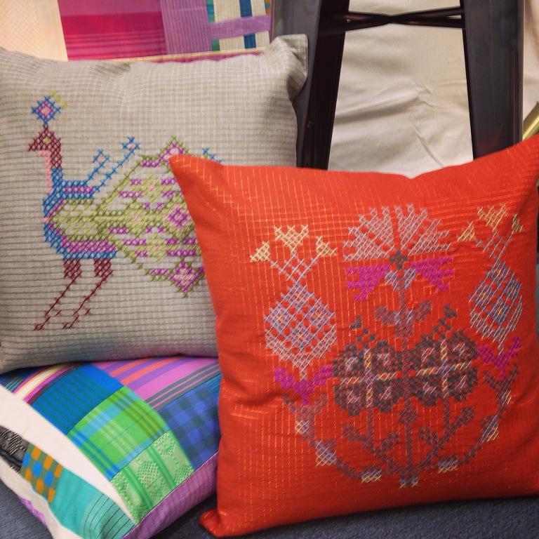 big cross stitch pillow