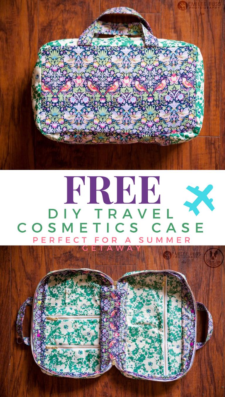 FREE DIY Travel Cosmetics Case Tutorial