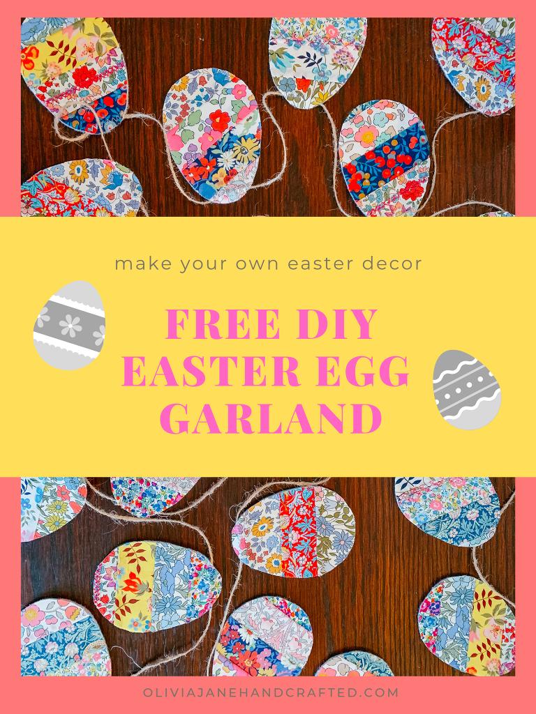 FREE DIY Easter egg garland tutorial