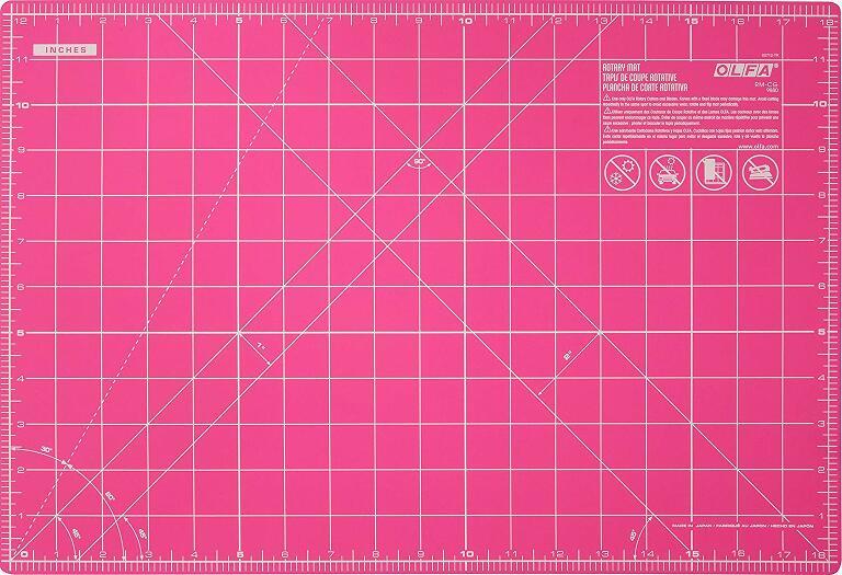 "Olfa 12 x 18"" pink cutting mat"