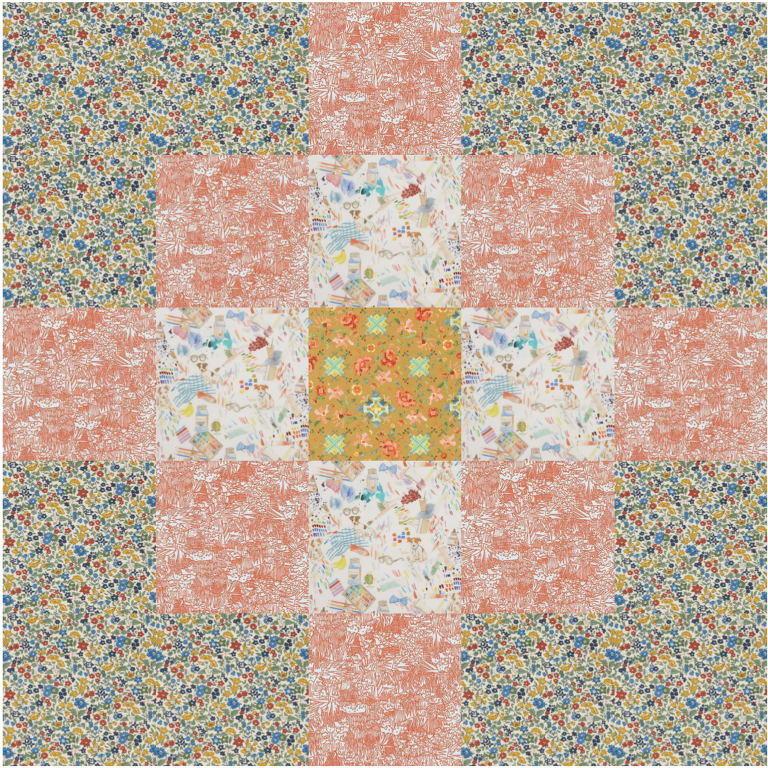 ochre pixelated quilt kit