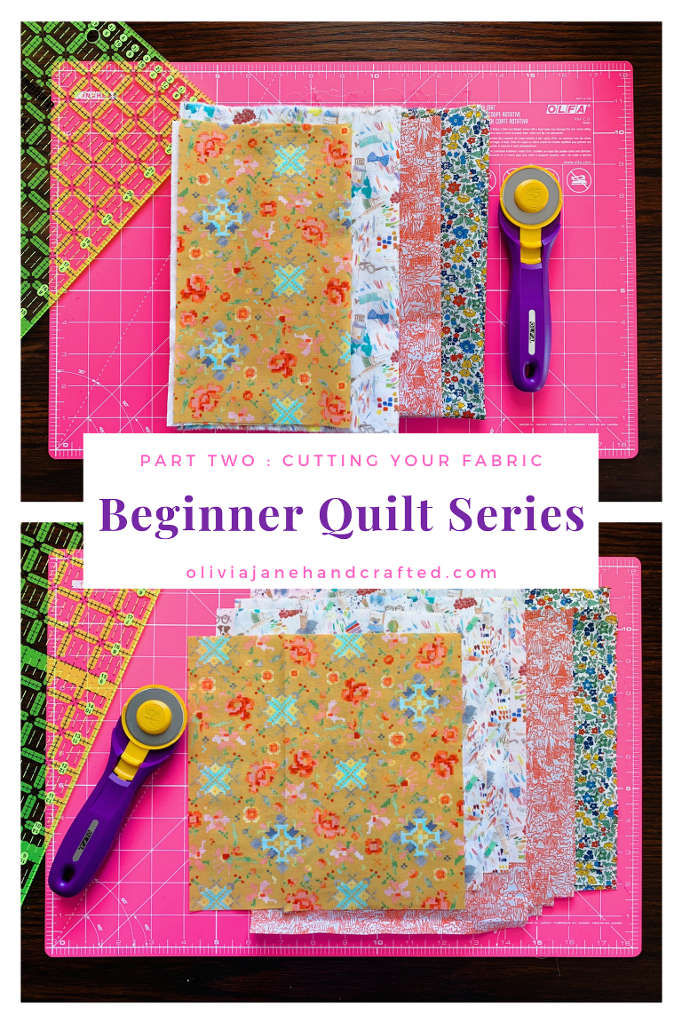 Beginner Quilt Series: cutting your fabric