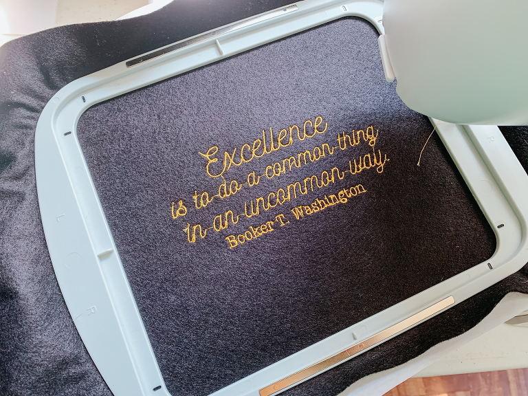 Janome embroidered bag tutorial skyline s9