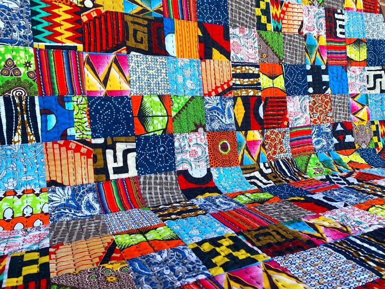 ethnic baby quilt