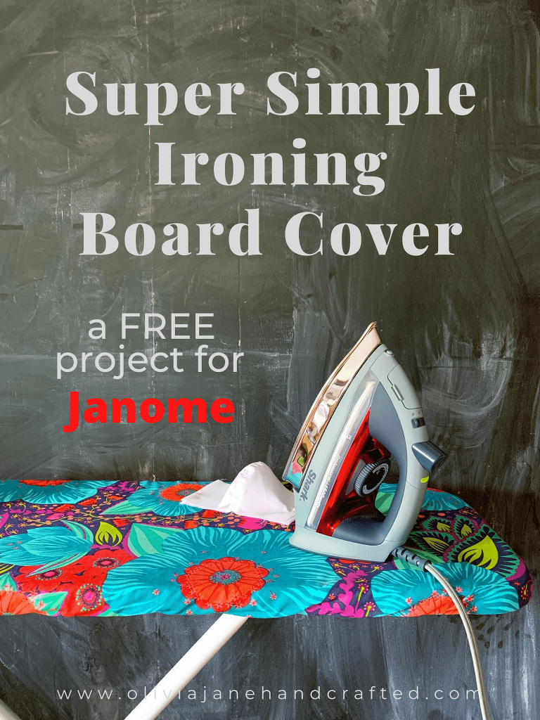 Super Simple Ironing Board Cover tutorial for Janome