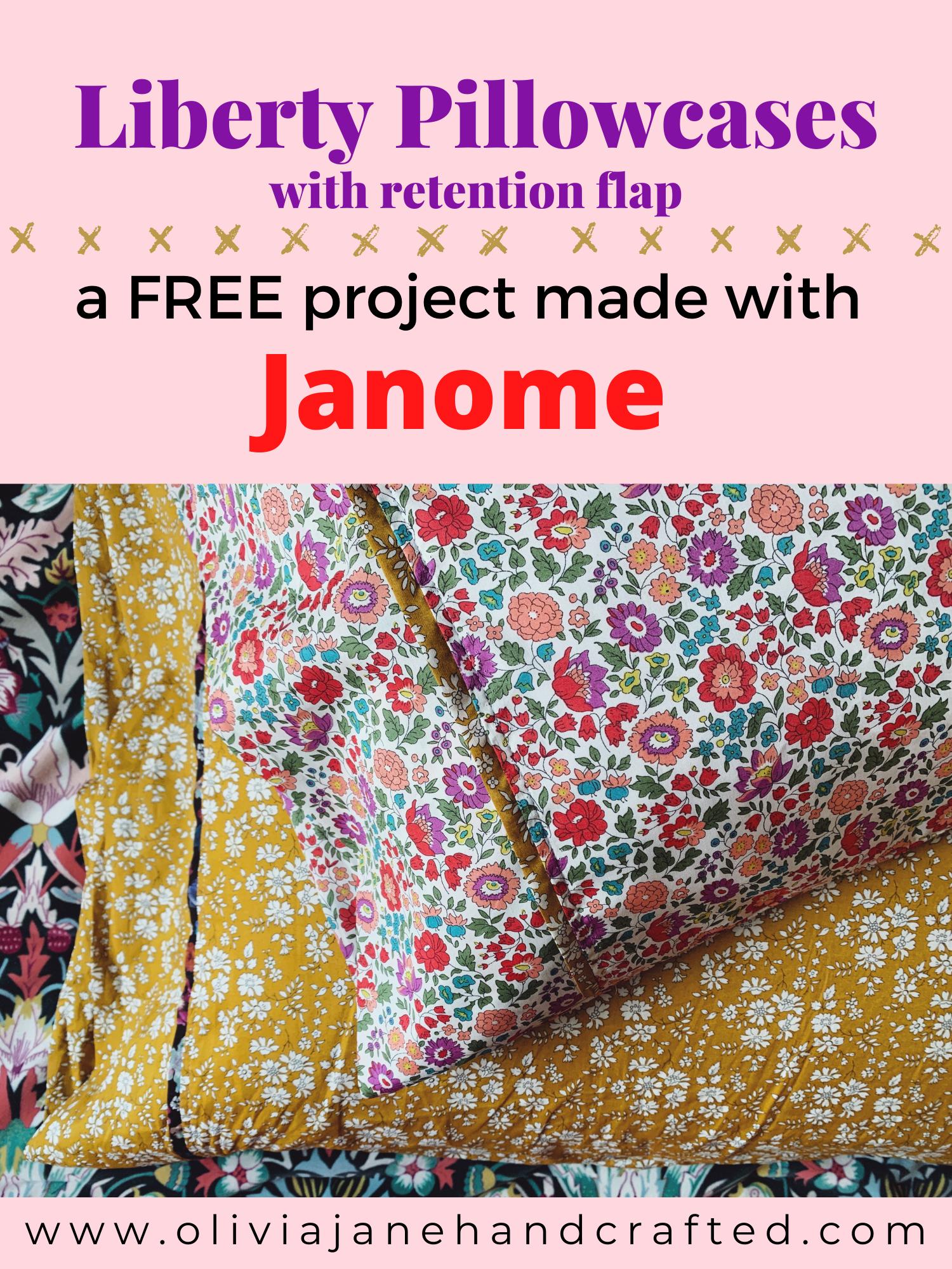 Liberty pillowcase tutorial Janome